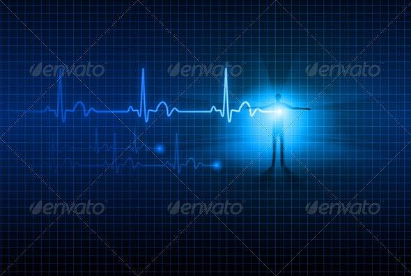 Abstract ECG - Health/Medicine Conceptual