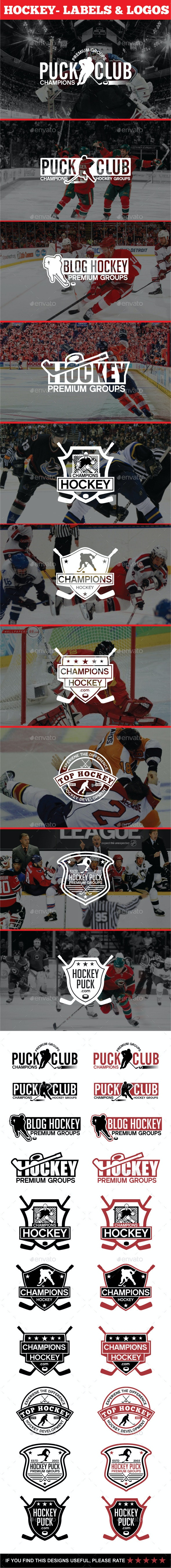 Hockey - Labels & Logos - Badges & Stickers Web Elements