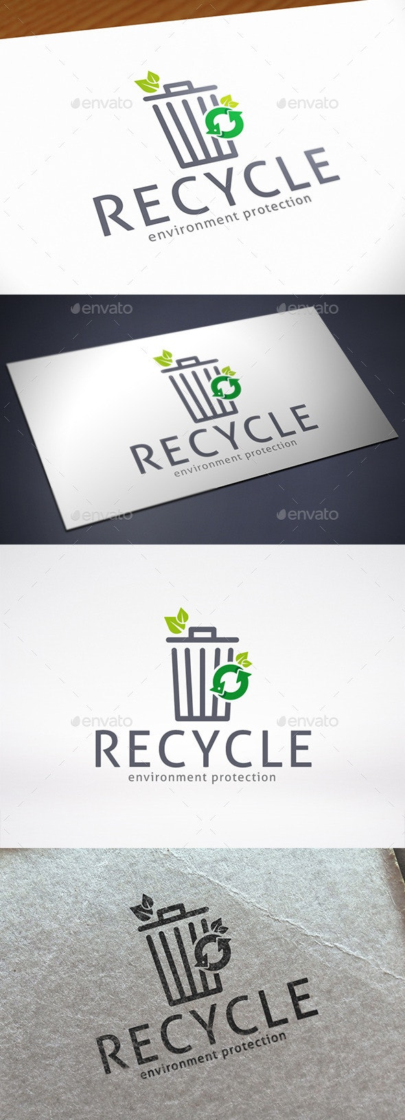 Trash Recycle Logo Template - Objects Logo Templates