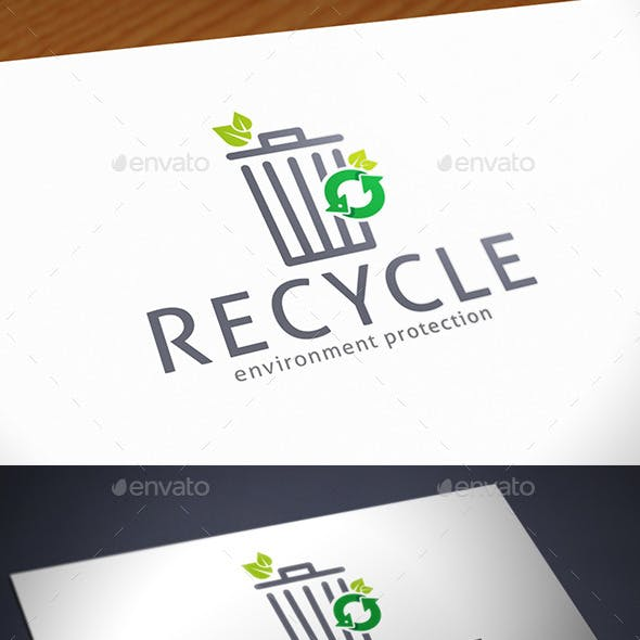 Trash Recycle Logo Template