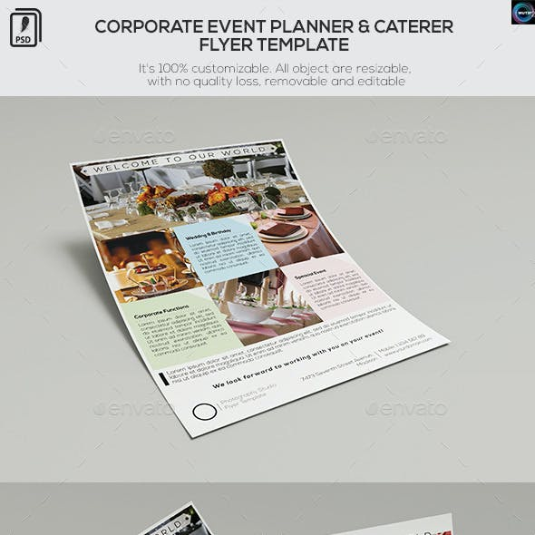 Corporate Event Planner & Caterer-Flyer Template