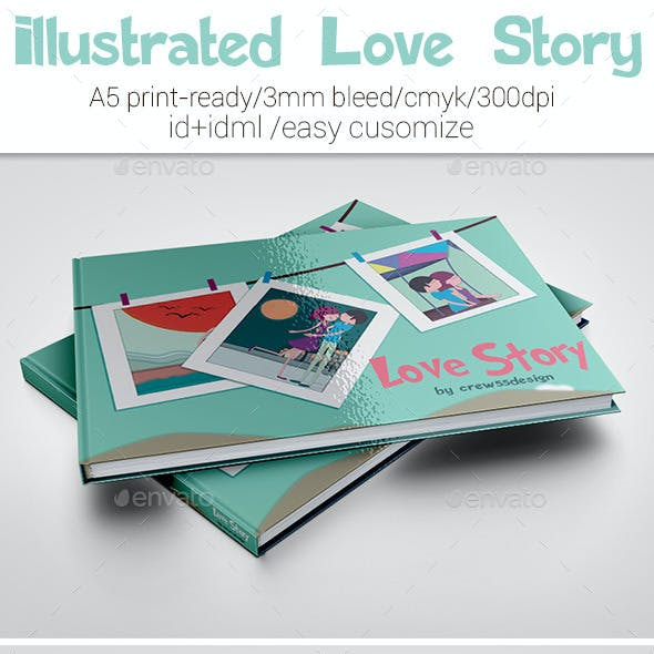 Illustrated Love Story Template