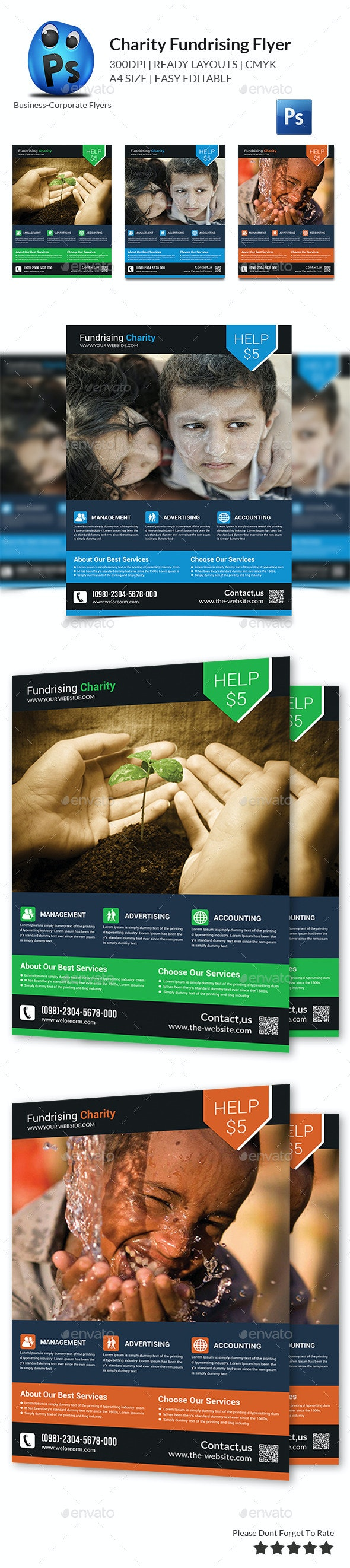 Charity Fundraising Flyer Templates - Corporate Flyers