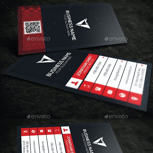 2 in 1 Corporate Business Card Bundle No.06