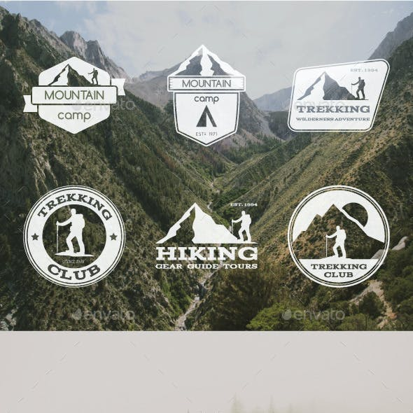6 Trekking Badges & Logo