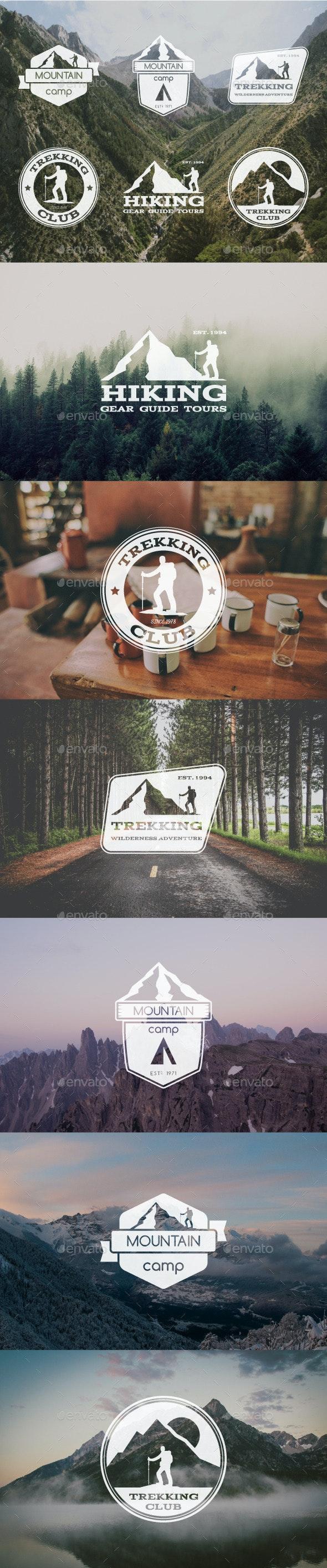 6 Trekking Badges & Logo - Badges & Stickers Web Elements
