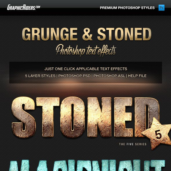 Various Text Effects Vol.1 - Grunge and Stoned