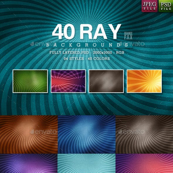 40 Ray Backgrounds - 04 Styles