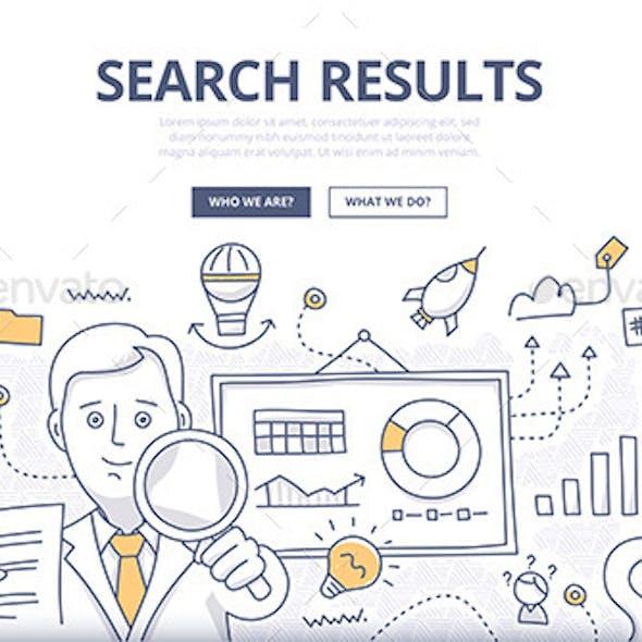 Online Search Doodle Concept