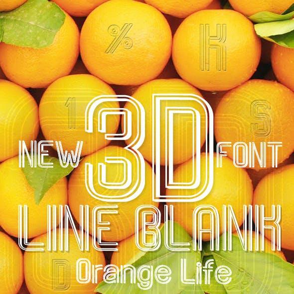 Line Blank 3D Font