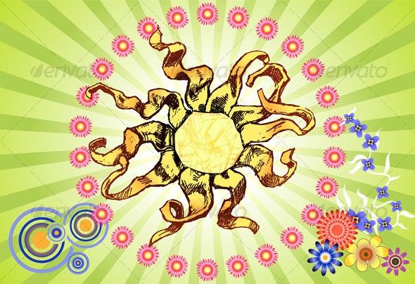 Sun Burst - Decorative Vectors