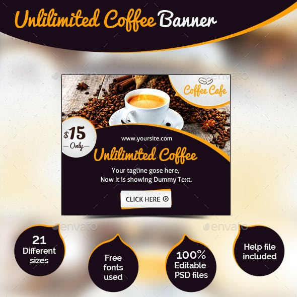 Food / Coffee Web Banner Ad