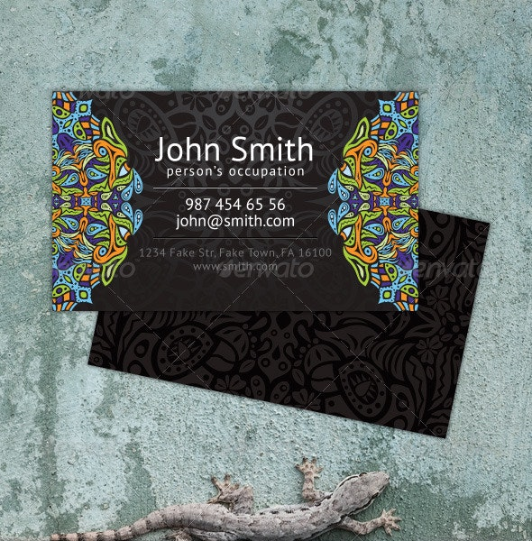 Psychedelic Ornament Business Card - Creative Business Cards