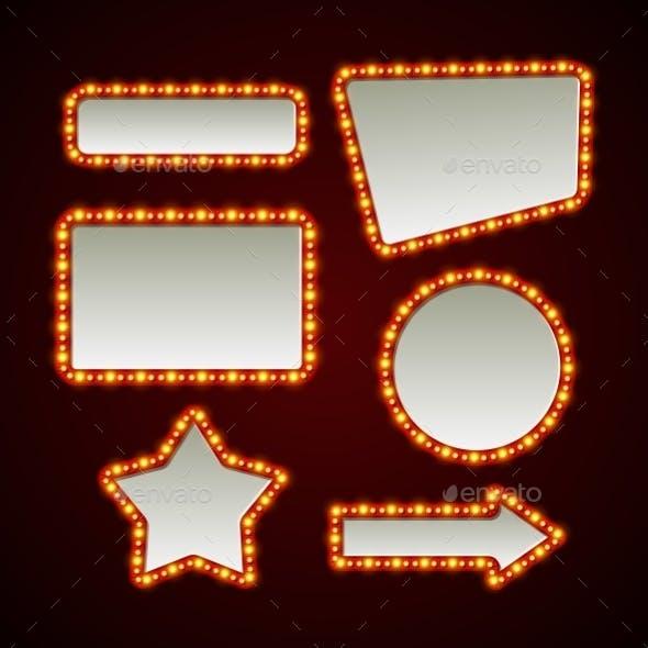 Set of Retro Light Frames