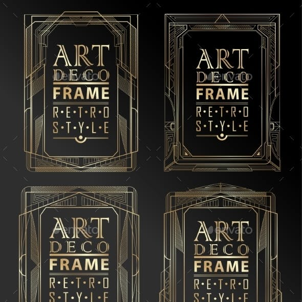 Art Deco Geometric Frames