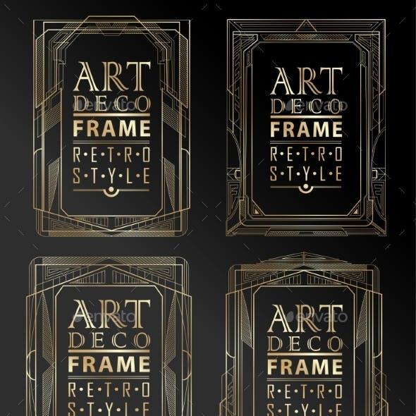 Art Deco Geometric Frames
