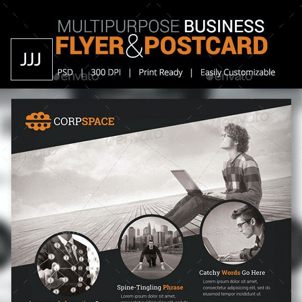 Business Flyer 47 with Postcard Option