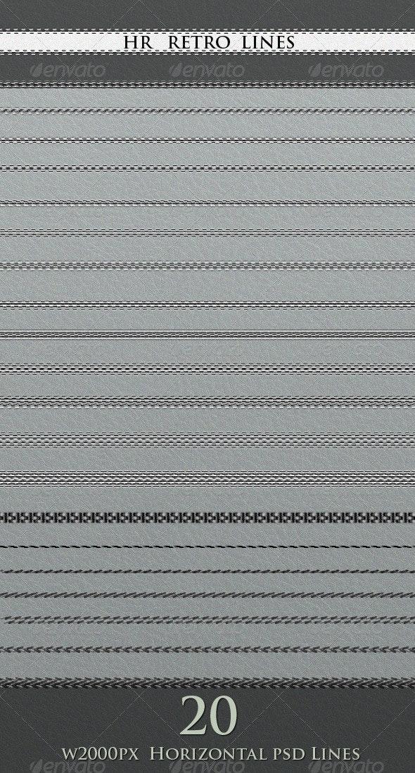HR Retro Lines - Miscellaneous Web Elements