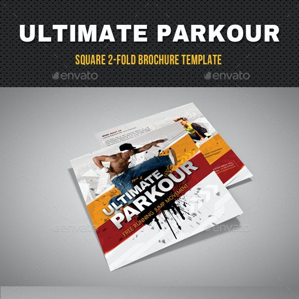 Ultimate Parkour Square 2-Fold Brochure