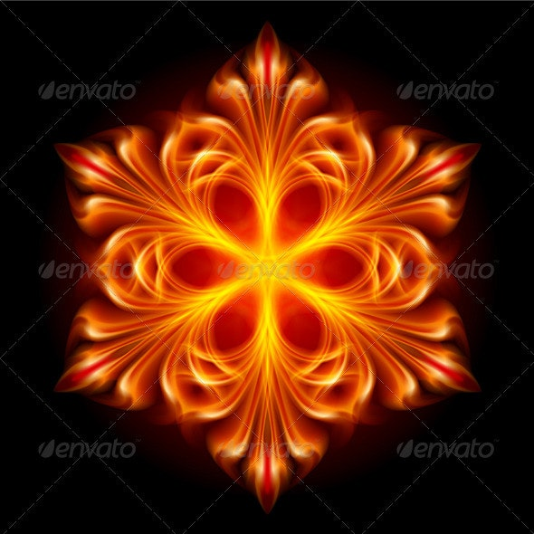 Abstract Fire Snowflake - Miscellaneous Characters