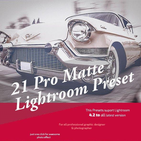 21 Pro Matte Lightroom Presets