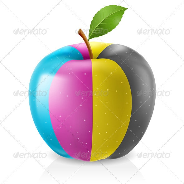 Delicious CMYK Apple - Miscellaneous Characters