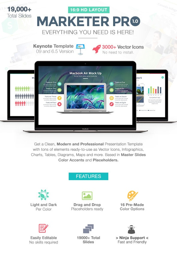 Marketer Pro Keynote Template - Business Keynote Templates