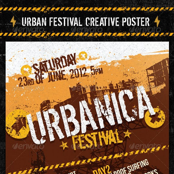Urban Festival Creative Poster
