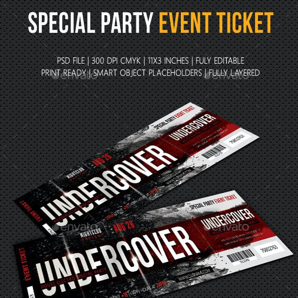 Special Party Event Ticket V02