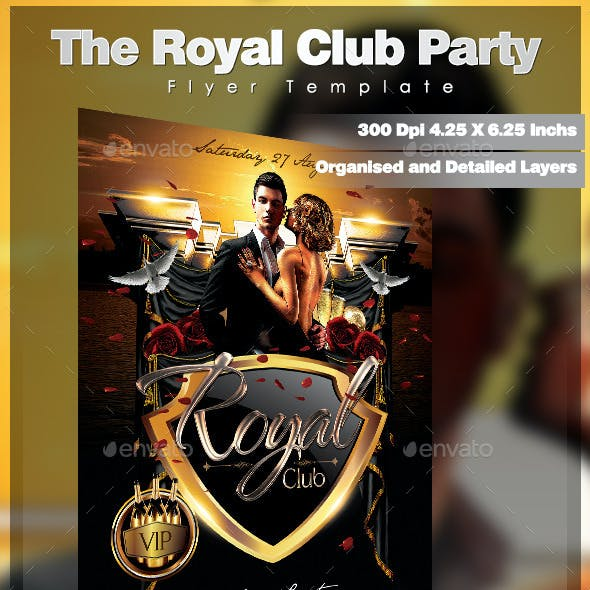 The Royal Club Party Flyer Template
