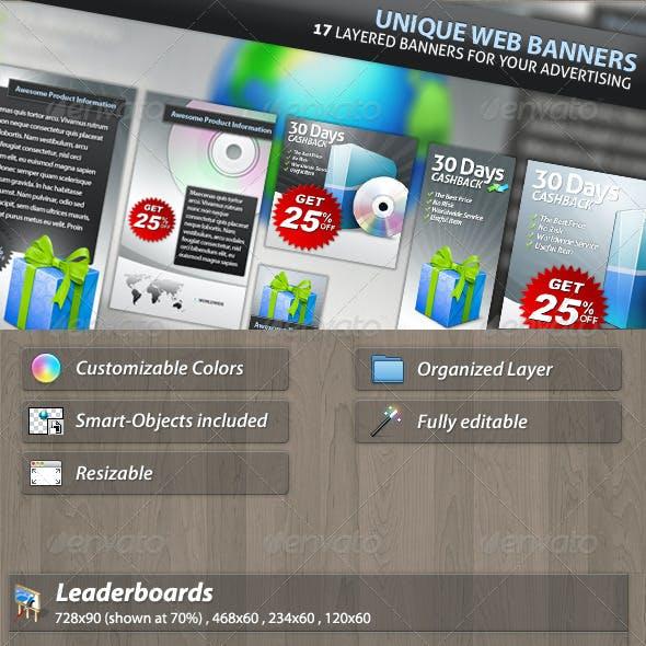 Unique Web Marketing Banner Set