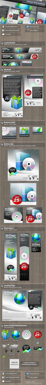 Unique Web Marketing Banner Set - Banners & Ads Web Elements