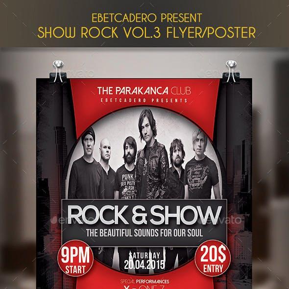 Show Rock Event Flyer / Poster Vol.3