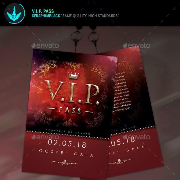 VIP Pass Template