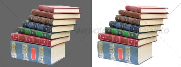 Book's pile - Home & Office Isolated Objects