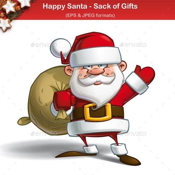 Happy Santa - Sack of Gifts