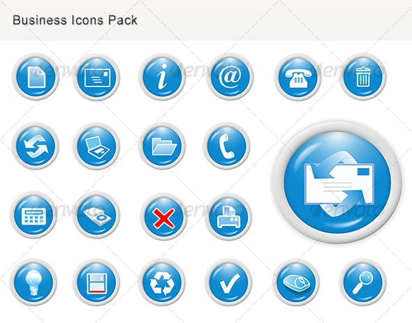 Business Web Icons for Websites - Business Icons
