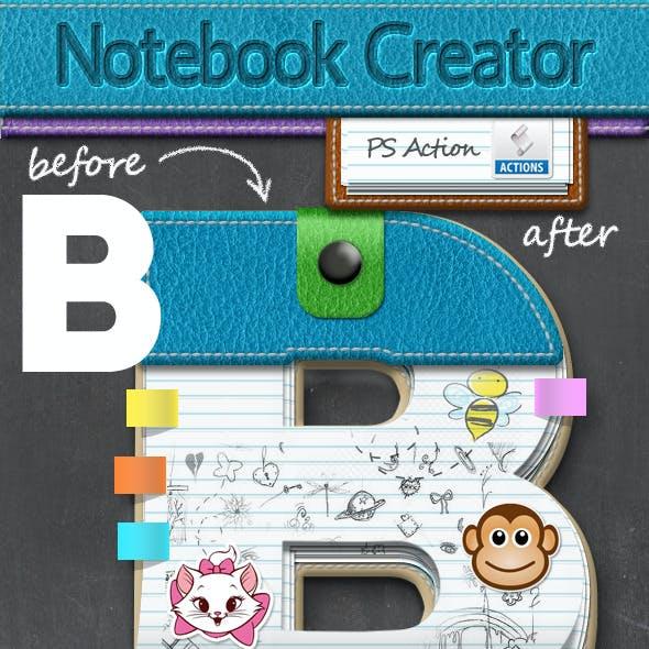 Leather Notebook Photoshop Creator