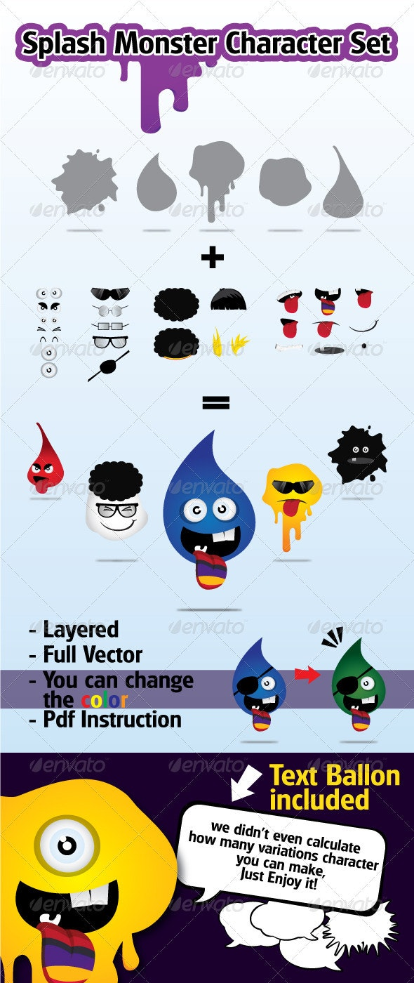 Splash Monster Character - Monsters Characters