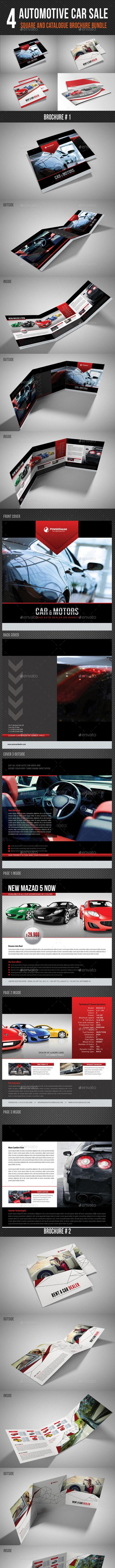 4 Automotive Car Sale Rental Brochure Bundle V02 - Corporate Brochures