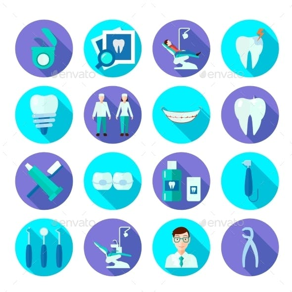 Dental Flat Icon Set