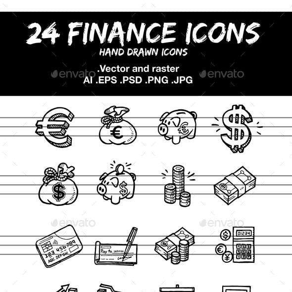 Finance Hand Drawn Icons