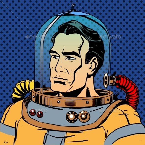Manly Man Astronaut In a Spacesuit