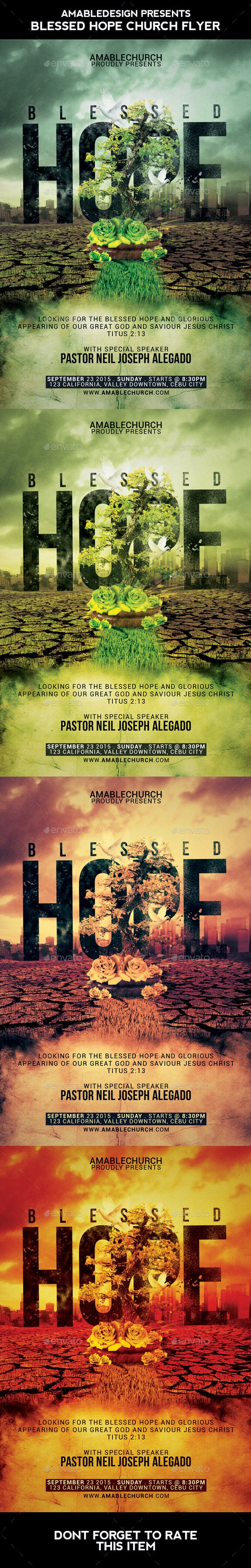 Blessed Hope Church Flyer - Church Flyers