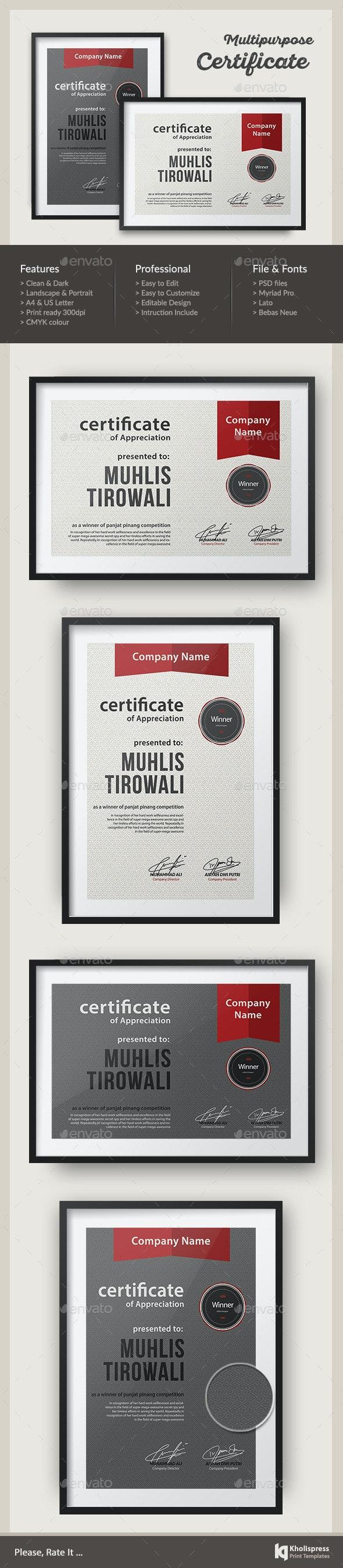 Pattern Certificate - Certificates Stationery