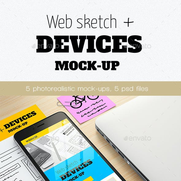 Web sketch + Devices Mock-up