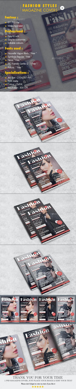 Fashion Styles Magazine Covers V.02 - Magazines Print Templates