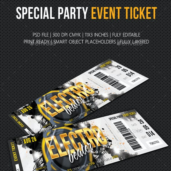 Special Party Event Ticket V03