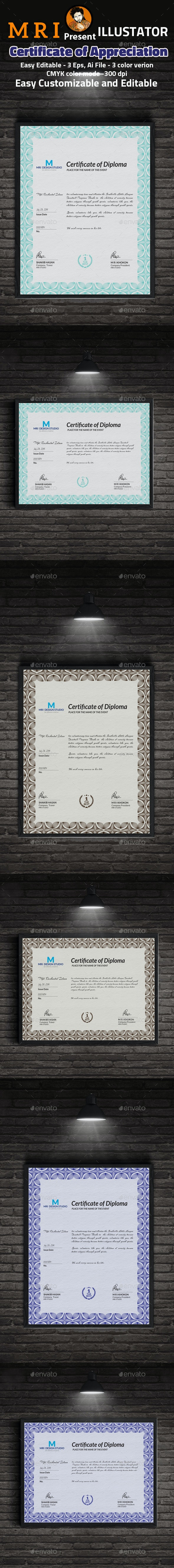 Certificate of Appreciation Template - Certificates Stationery