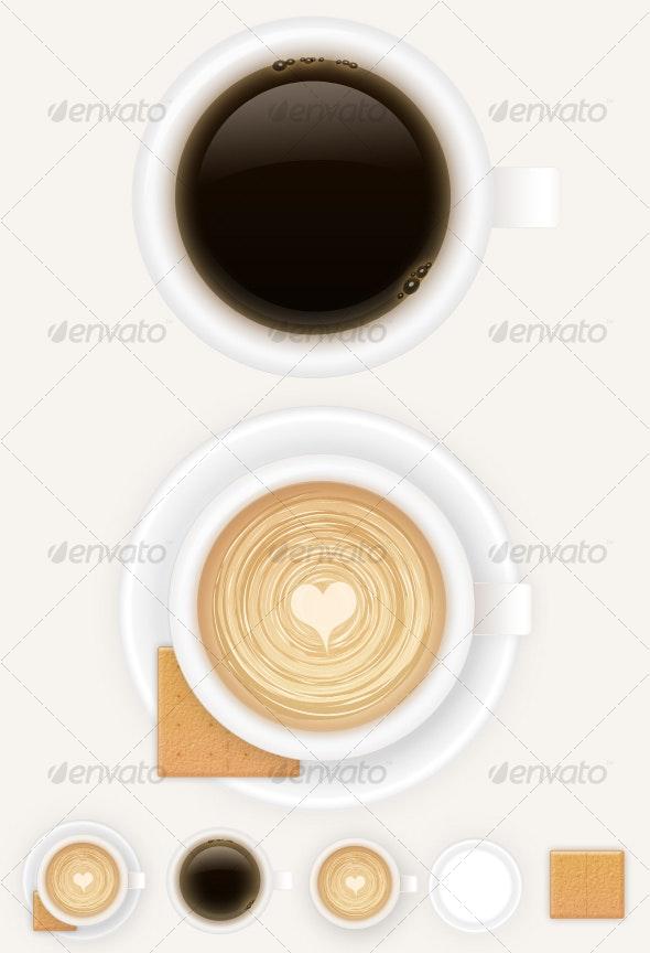 Coffee Break - Objects Illustrations